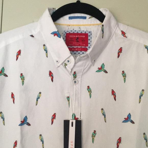 68669ca12f Parrots Hawaiian Shirt Large